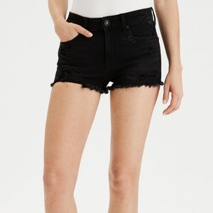 american eagle black shorts